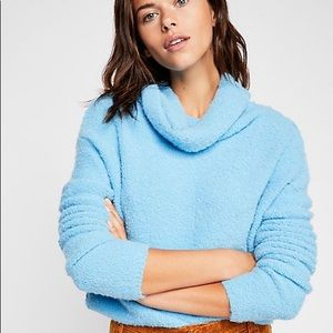 Free People Fuzzy Cowl Turtleneck Sweater